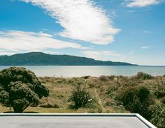 The view of Kapiti Island is fully revealed from the tower.  Photo by: Matthew Williams      Read more: http://www.dwell.com/slideshows/bach-to-the-beach.html?slide=5=y=true#ixzz25iKi7DGU