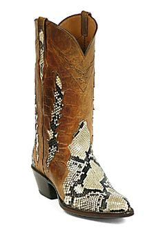 Snake/Snakeskin Triad Boots Style 603 Custom-Made by Black Jack Boots