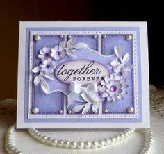 "Stampin up! Wedding Handmade ""Together Forever"" card - NEW #Wedding"