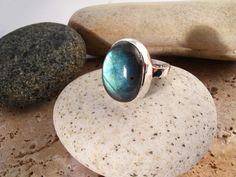 Labradorite Gemstone Ring Nickel Free Sterling by Graceanchor, $55.00