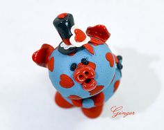 Ginger Polymer Clay Piglet