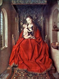 The Lucca Madonna, 1436 - Jan van Eyck Lucca, Frankfurt, Madonna, Canvas Online, Religious Paintings, Hieronymus Bosch, Archangel Michael, Learn Art, Art Database