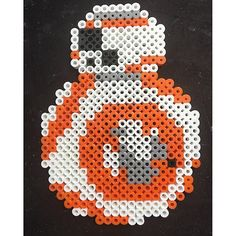 BB-8 Star Wars VII perler beads by Katie Binesh
