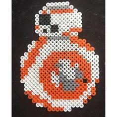 BB-8 Star Wars VII perler beads by Katie Binesh