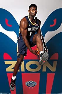 Trends International Nba New Orleans Pelicans Zion Williamson Wall Poster 22 375 X 34 Unframed Versio New Orleans Pelicans Lebron James Wallpapers Nba News