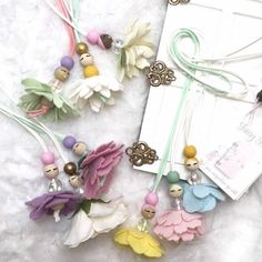 Fairy necklace flower necklace Dance recital gift Ballerina image 7 Doll Crafts, Bead Crafts, Dried Flower Wreaths, Easter Gift Baskets, Dance Recital, Cute Little Things, Flower Fairies, Kids Jewelry, Wedding Crafts