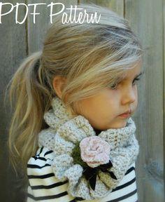 Crochet PATTERN-The Ashby écharpe (adulte, enfant, taille de l'enfant en bas âge)                                                                                                                                                      Plus