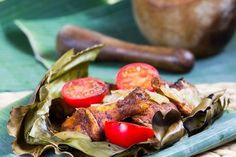 Mayan Barbecue Chicken cooked in Banana Leaf creates a deliciously spiced and tender chicken dish sure to impress at your next barbecue!