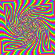 Bewildered Volume 7 by Smooothe on DeviantArt - Mufinella Gallard Optical Illusion Gif, Illusion Art, Optical Illusions, Rainbow Aesthetic, Aesthetic Gif, Rainbow Gif, Trippy Visuals, Hippie Trippy, Trippy Gif