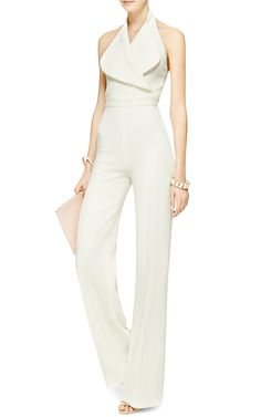 Wool-Crepe Halterneck #jumpsuit #chic #design #fashion #style by Emilia Wickstead - Moda Operandi