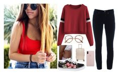"""""""Traveling with him... -Lydia"""" by chasing-wasteland ❤ liked on Polyvore featuring Cambio, Vans and CalPak"""