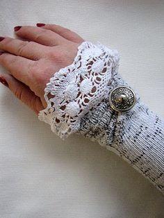 sock wrist warmers