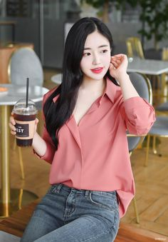 T-Shirts, Dress, Blouse, Skirts, Pants & Casual Asian Fashion, Korean Girl Fashion, Office Fashion Women, Korean Fashion Trends, Ulzzang Fashion, Girls Fashion Clothes, Fashion Outfits, Womens Fashion, Stylish Work Outfits