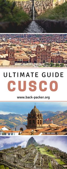 The ultimate guide to visiting Cusco, Peru, a city known as the starting point for most treks and tours departing for Machu Picchu. Best things to do, top restaurants, cafes and bars + where to stay and how to book your Machu Picchu tour. Travel in Peru. | Back-Packer.org#Cusco #Peru