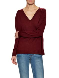 EILEEN FISHER - Wool V-Neck Box Sweater