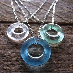 colar de vidro reciclado