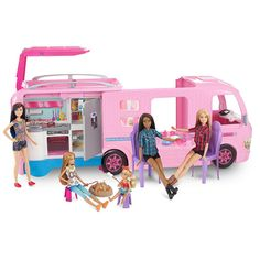 Superb Barbie Dream Camper Van Playset with Accessories Now At Smyths Toys UK! Buy Online Or Collect At Your Local Smyths Store! We Stock A Great Range Of Barbie At Great Prices. Barbie Camper, Fiat Doblo Camper, Camper Van, Barbie Plane, Barbie Cars, Dreamhouse Barbie, Barbie Clothes, Barbie Dolls, Ken Doll