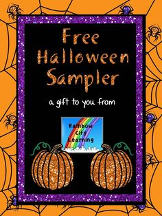 FREE! Six activities for Halloween from Rainbow City Learning! Available through October 31.