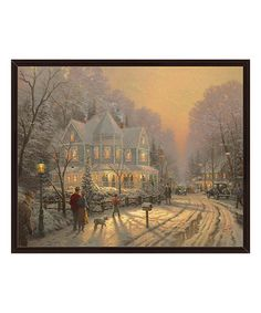 A Holiday Gathering Framed Gallery-Wrapped Canvas #zulily #zulilyfinds
