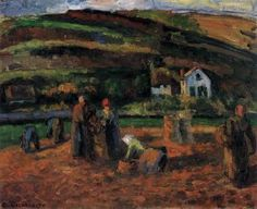 The Potato Harvest - Camille Pissarro - The Athenaeum