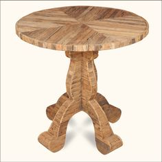It's one part furniture, one part art. Our old world artisans carefully selected and cut wood from railroad ties then pieced them together to create this classic parquet table top.
