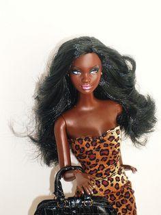My Beautiful Black Barbie doll :D
