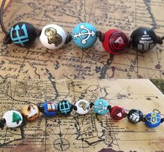 Percy Jackson beads) / Annabeth Chase beads) Camp Half Blood Necklace - Greek Gods, the Olympians, Fan Merch Percy Jackson Party, Percy Jackson Fan Art, Percy Jackson Books, Percy Jackson Fandom, Jackson 5, Percy Jackson Costume, Percy Jackson Couples, Percy Jackson Birthday, Annabeth Chase
