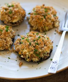 Mediterranean Stuffed Mushrooms with Whole Wheat Garlic Crumb  http://mediterrasian.com