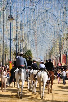Visit the spring horse fair in Jerez in May We offer tailor made packages to the Jerez Feria in Spain with special trips to the Royal Riding School, a Bodega and horse riding lessons on well schooled Andalucian horses Riding Holiday, Riding School, Spain Holidays, Riding Lessons, Andalucia, Horse Riding, Equestrian, Calendar, Street View