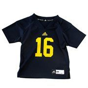adidas Michigan Wolverines #16 Infant Replica Football Jersey - Navy Blue