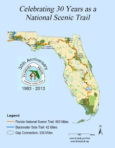Florida National Scenic Trail: 1,300 miles