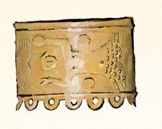 Objetos de Oxum (Livro: Iconografia dos Deuses Africanos no Candomblé da Bahia). Imagem disponível na página do artista, no facebook, em janeiro-2015.
