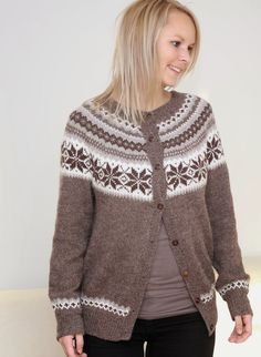 Lykkeplagg: Nancykofte Cardigan Design, Winter Outfits, Winter Clothes, Knitting Yarn, Submissive, Silk Sarees, Crochet, Mittens, Projects To Try
