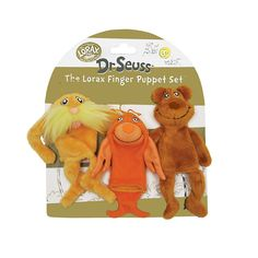 Dr. Seuss The Lorax Finger Puppet Set by Manhattan Toy, Multicolor