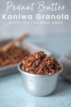Easy, grain-free and gluten-free peanut butter granola is a delicious make-ahead breakfast or snack. Make a big batch of this homemade granola to make breakfast super easy for the whole family! Peanut Butter Granola, Gluten Free Peanut Butter, Gluten Free Granola, Grain Free Granola, Easy Snacks, Healthy Snacks, Gluten Free Recipes For Breakfast, How To Make Breakfast, Glutenfree