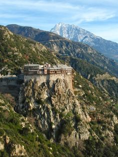Monastery of Simonopetra, Mount Athos, Greece Church Architecture, See Images, Athens Greece, Kirchen, Greek Islands, Places Around The World, Travel Pictures, Places To See, Viajes