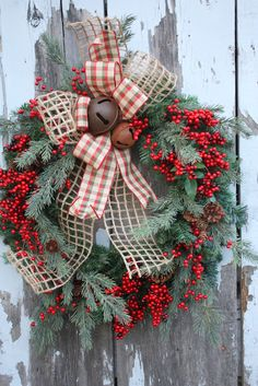 Sweet Something Designs: New Christmas Wreaths I would use a different color of the printed/plaid ribbon