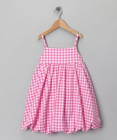 Pink Gingham Bubble Dress - Toddler & Girls