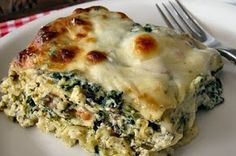 Spinach, Mushroom and Pesto Lasagna