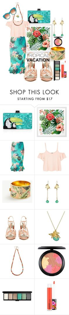 """""""Tropical day🏝"""" by elegant-m ❤ liked on Polyvore featuring Edie Parker, Dorothy Perkins, MANGO, Ann Taylor, Riverlight, Rochas, Lola Rose, MAC Cosmetics and Dolce&Gabbana"""