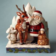 $42.75-$45.00 Rudolph Jim Shore Christmas from Enesco Santa & Elephant & Rudolph Figurine 6.5 IN - Rudolph and Santa share a special moment - and even the polka-dot elephant is included. http://www.amazon.com/dp/B003IX0BJG/?tag=pin2wine-20