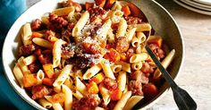 For a meal that ticks all the boxes you can't go past Curtis Stone's deliciously easy, budget-friendly pumpkin and pork sausage pasta.