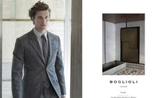 Boglioli Fall/Winter 2015 Campaign: Wouter Peelen Dons Gray Suit