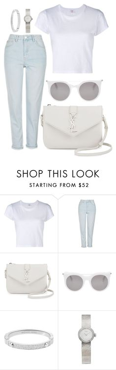 """""""Back 2 school"""" by natysdvd ❤ liked on Polyvore featuring RE/DONE, Topshop, Yves Saint Laurent, Alexander McQueen, Michael Kors and Christian Dior"""