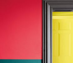 Cape Red - No LRV (Light Reflectance Value) – A fun, berry red. Use alone for maximum impact or as a powerful highlight within a muted scheme. Vintage Color Schemes, Colour Schemes, Vintage Colors, Yellow Paint Colors, Yellow Painting, Bold Colors, Interior Walls, Interior And Exterior, British Paints