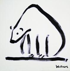 "Saatchi Online Artist: Susan Margaret Williams; Oil, 2011, Painting ""Polar Bear"""