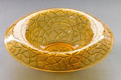 Imperial Glass Amber Tree of Life Rolled Edge Bowl. by AnneTweekes