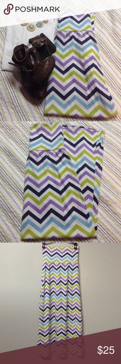 Cute chevron maxi skirt Cute chevron maxi skirt. It is a size large in girls, but fits XS in women as well Speechless Skirts Maxi
