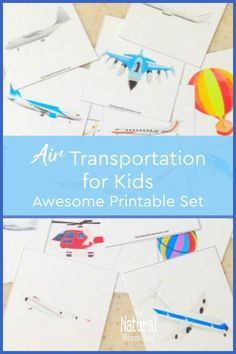 Awesome Lessons on Air Transportation for Kids These lessons on air transportation for kids include learning games for kids, printables and even notebooking ideas. #airtransportforpreschool #airtransportationforkids #airtransportationlessonplansforpreschool #airtransportforkids