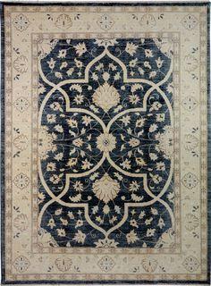 "Handmade Afghan Black/Grey Oriental Oushak Rug 5' 1"" x 6' 10"" (ft) - No. 11136  http://alrug.com/black-grey-oriental-oushak-rug-5-1-x-6-10-ft-no-11136.html"